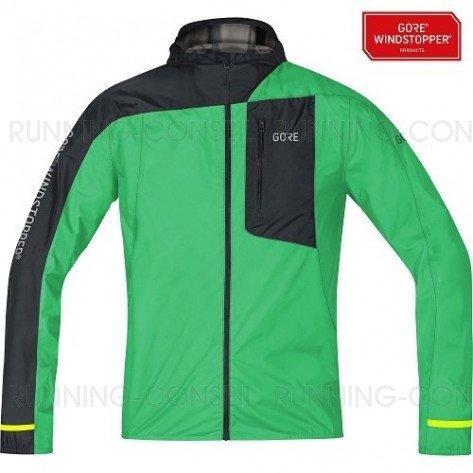GORE® Veste légère à capuche R7  WINDSTOPPER® Homme | Desert Green/Black