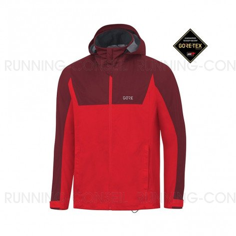 GORE®  R3 GORE-TEX ACTIVE VESTE À CAPUCHE HOMME | RED/CHESTNUT RED | Collection Printemps-Été 2019