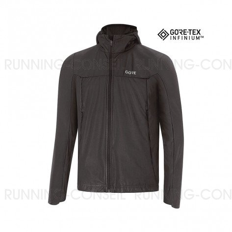 GORE® R5 GORE-TEX INFINIUM™ SOFT LINED VESTE À CAPUCHE HOMME | BLACK | Collection Printemps-Été 2019