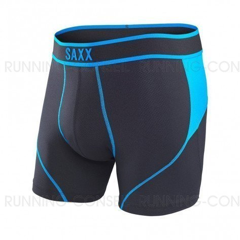 SAXX UNDERWEAR Kinetic Boxer brief Homme | Black/Electric Blue