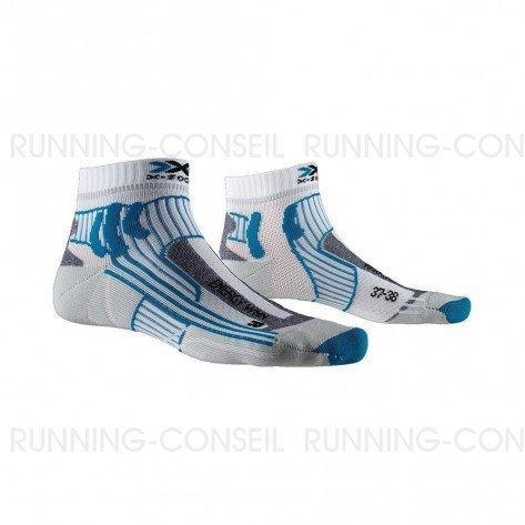 X-SOCKS Chaussettes Marathon Energy femme | Arctic White / Teal Blue