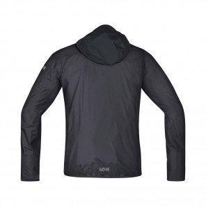 GORE® VESTE LÉGÈRE À CAPUCHE R7 WINDSTOPPER® HOMME | Terra Grey/Black