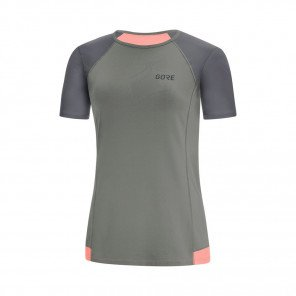 GORE® R5 Maillot manches courtes Femme Castor grey / Terra grey