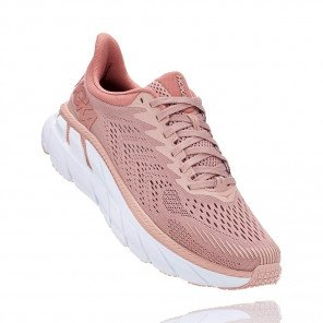 HOKA CLIFTON 7 Femme - MISTY ROSE / CAMEO BROWN