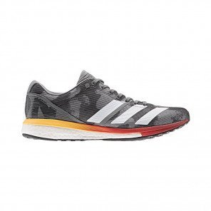 Adidas Adizero Boston 8 Homme - Gris/Rouge/Orange
